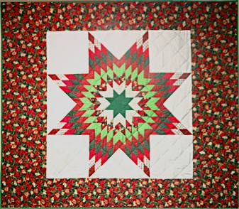 Full Size Star Quilt - 'Poinsettia'